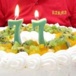 誕生日会は大きな手作りケーキで